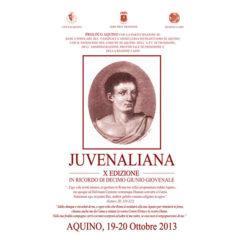 """Aquino: 19 – 20 ottobre 2013 – X Edizione """"Juvenaliana"""""""