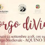 """Percorso Enogastronomico """"Borgo diVino"""" – 22 settembre 2018"""