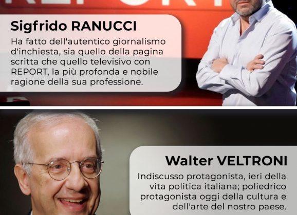 Aquino 16 ottobre 2021 – Ranucci e Veltroni sono i Vincitori del Premio Giovenale 2020/2021