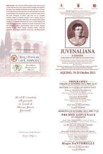 Juvenaliana - 2013