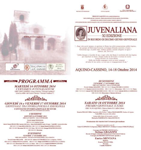 juvenaliana - 2014